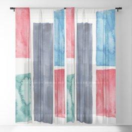 18    Abstract Geometric   191015 Sheer Curtain