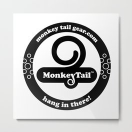 Monkey Tail Gear Logo - 002 Black Metal Print