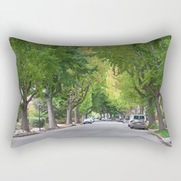 Old Tree Lined Neighborhood end of Summer Rectangular Pillow