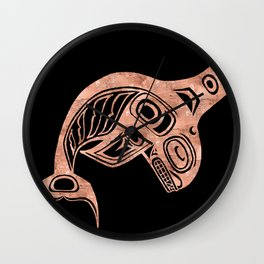 Copper Keét Night Wall Clock