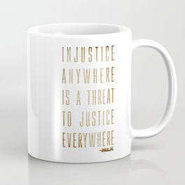 Martin Luther King Typography Quotes Coffee Mug