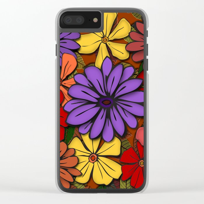 Flower Power! Clear iPhone Case