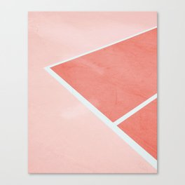 Courtside - living coral Canvas Print