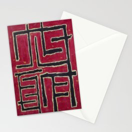 Red Maze Stationery Cards
