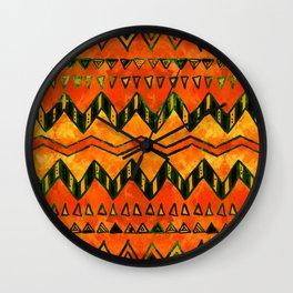 Aztec Ethnic Pattern Art N16 Wall Clock