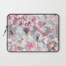 Pastel pink pansies splatter Laptop Sleeve
