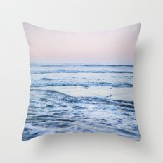 Pacific Ocean Waves Throw Pillow