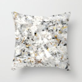 Classic Marble with Gold Specks Throw Pillow