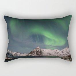 Northern Lights Over Lofoten Rectangular Pillow