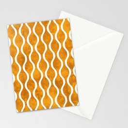 Retro Tie Dye Ogee Pattern 315 Yellow Stationery Cards
