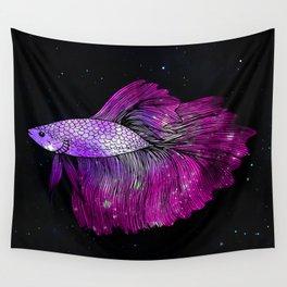 Pink Galaxy Betta Fish Wall Tapestry