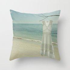 My White Dress. Throw Pillow