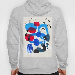 Mid Century Modern Abstract Colorful Art Patterns Ocean Blue Turquoise Grey Hoody