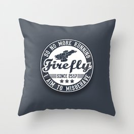Misbehave Badge V1 Throw Pillow