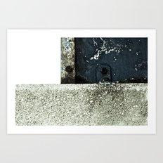 White Blue Concrete Art Print