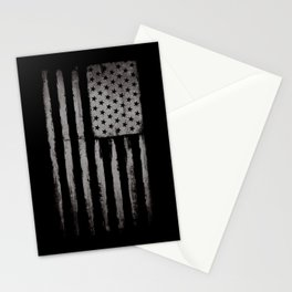 White Grunge USA flag Stationery Cards