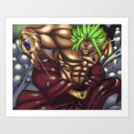 Broly - The Legendary Super Saiyan Art Print