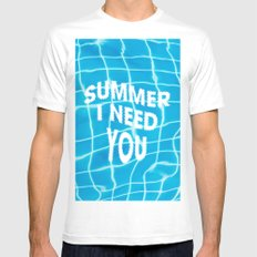 Summer i need you Mens Fitted Tee SMALL White