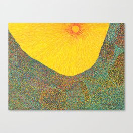 Here Comes the Sun - Van Gogh impressionist abstract Canvas Print