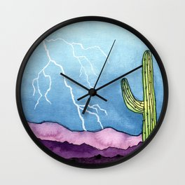 Lightning Strike Wall Clock
