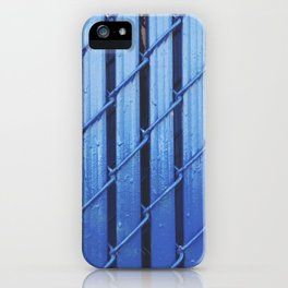 Blue Fence iPhone Case
