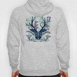 Floral Antlers – Navy & Mint Palette Hoody