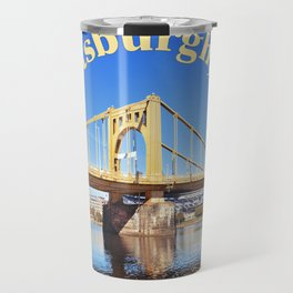 Roberto Clemente Bridge in Pittsburgh PA Travel Mug