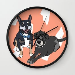 Dougie and Frankie Wall Clock