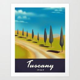 Tuscany Italy travel poster Art Print