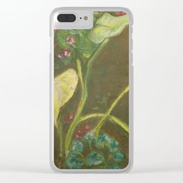 Lilly and Camelia pastel painting Clear iPhone Case