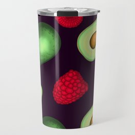 Avocados & Raspberries Travel Mug
