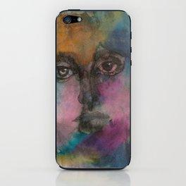 Watercolor Man iPhone Skin