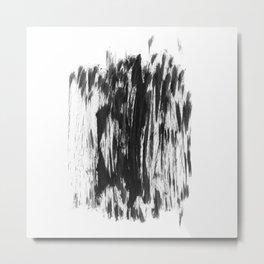 Abstract Dry Brush Metal Print