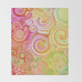 Wonka Swirl Throw Blanket