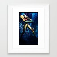 samus Framed Art Prints featuring Samus by Louten