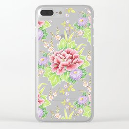 Kimono Bouquet Chintz Clear iPhone Case