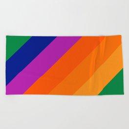 Simple Stripes - Grass Beach Towel