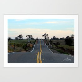 The road best traveled Art Print
