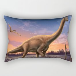 Jurassic Dinosaurs Rectangular Pillow
