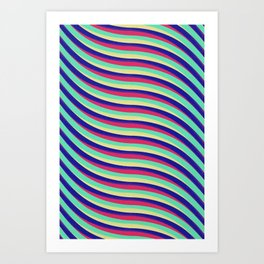 Waves 1a Art Print