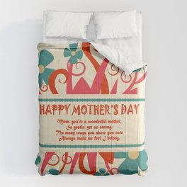 mother's day postcard design element Comforters