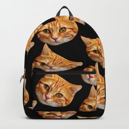 cute black and orange cat pattern Backpack