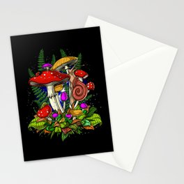 Forest Magic Mushrooms Stationery Cards