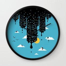 Melting Skyline Wall Clock