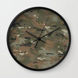 Camouflage: Mud Colors II Wall Clock