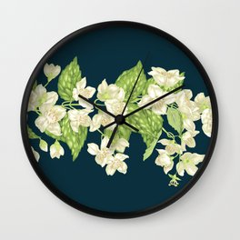 Jasmine Decorative Branch Wall Clock