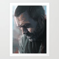 house md Art Prints featuring House MD by JackCat