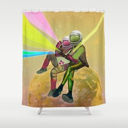 For a Handful of Stars / Universo Carnaval Shower Curtain