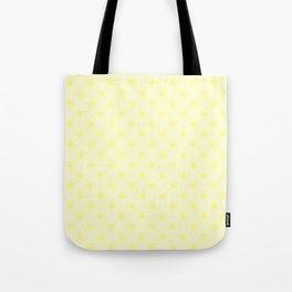 Electric Yellow on Cream Yellow Snowflakes Tote Bag