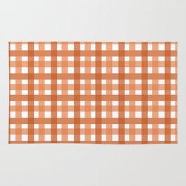 Orange Picnic Cloth Pattern Rug